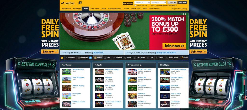 Betfair Com Casino
